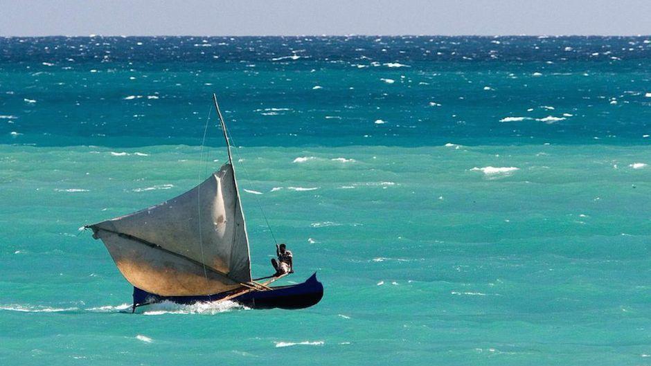 one sailboat