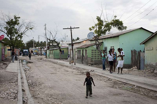On the street of a batey.