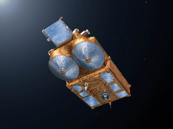 CryoSat seen from underneath.