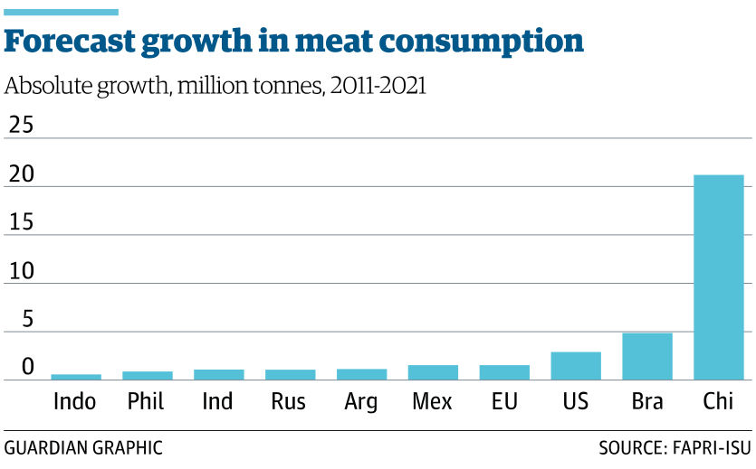 Forecast meat consumption