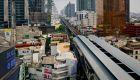 Bangkok skytrain view
