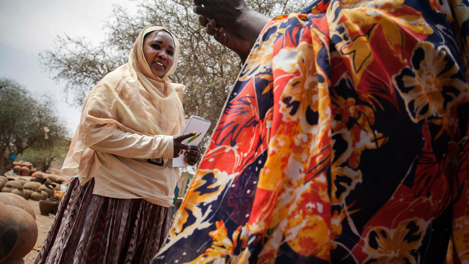 UNAMID Gender Officer Magda Abdullah provides skills-based training and basic rights education to local stakeholders including government institutions, local leaders, women's unions and IDP communities.