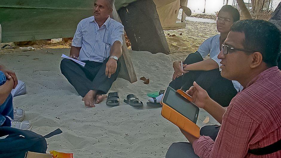 Maldives fieldwork