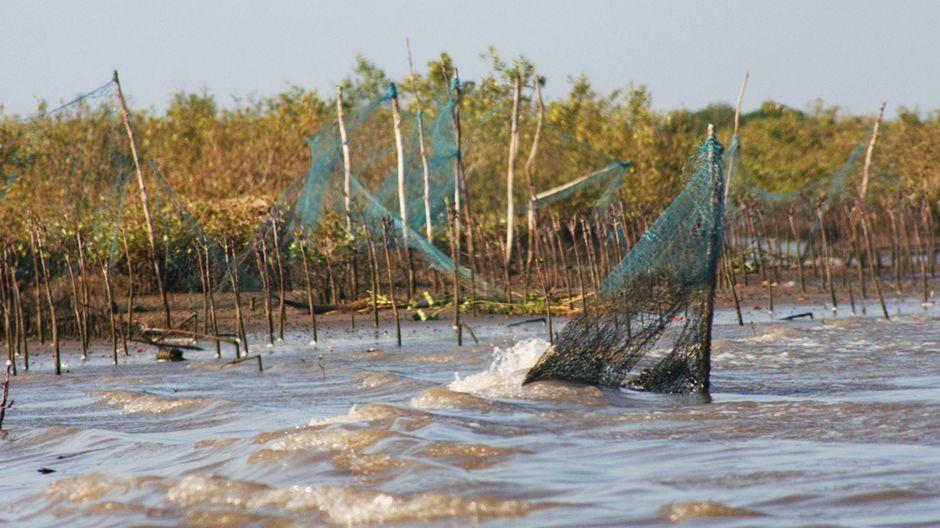 漁網。写真:ナガルジュン・カンドゥクル
