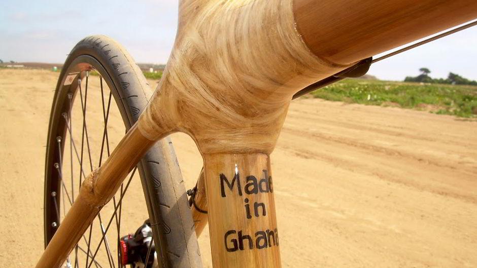 竹製自転車に乗って持続可能な発展へ