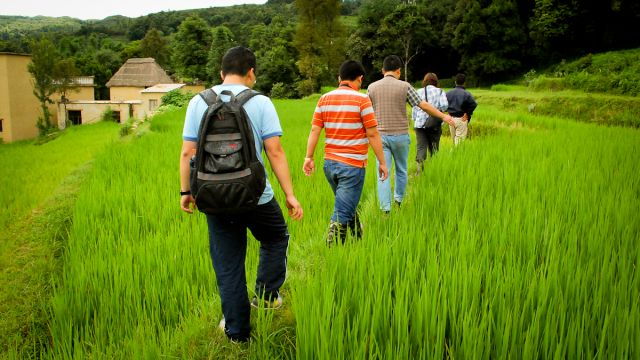 After a week of coursework, participants go into the field