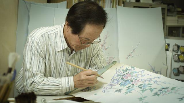 Kaga yuzen artist Kenji Maida